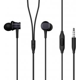 Xiaomi Mi Piston In-Ear Headphones Basic [High Sensitivity Mic & Remote, powerful bass, Replaceable Earbuds- Compatible with Smartphones/Tablets/PC - Black