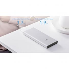 Xiaomi Mi 10000 mAh Powerbank 3 Type C [Quick Charge 18W QC3.0 USB-C Dual Output, Fast Charging] - Charge Smartphones, Tablets, Headphones, Smart Watches & Action Cam - Aluminum - Silver