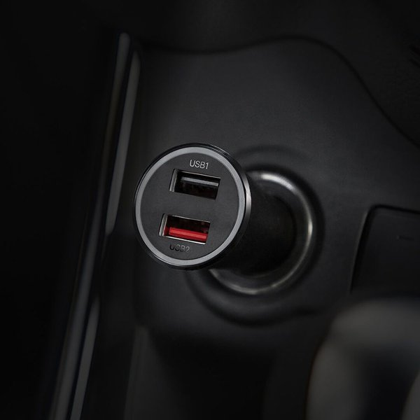 Xiaomi Mi 37W Dual USB-A Port Car Charger Single Port 27W MAX Fast Flash Charging, Multiple Protections, LED Power Indicator - for Smartphones/Tablets/Game Machine/Cameras - Black