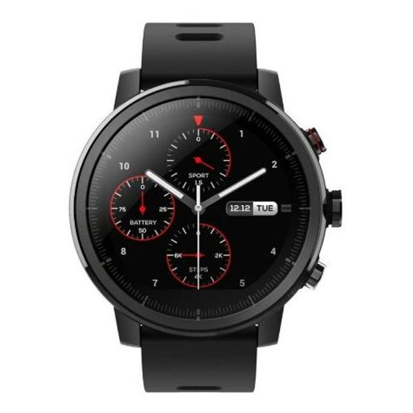 Amazfit Stratos Multisport Smartwatch with VO2max, All-Day Heart Rate and Activity Tracking, GPS, 5 ATM Water Resistance, Phone-Free Music, Black)