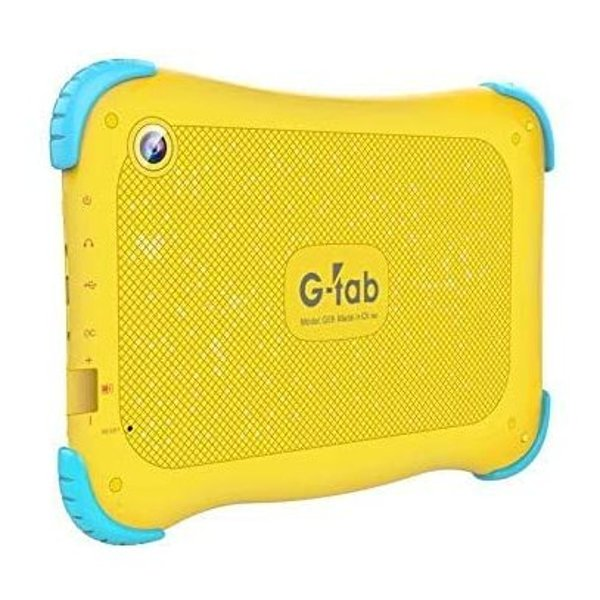 G-Tab Q4 7 inch Tablet - Android 9.0 Go Tablet PC with 16 GB Storage, Quad Core Processor, HD IPS Display, Dual Cameras, WiFi, Bluetooth - Android Tablet, Yellow